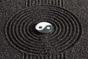 Princípio taoista de energias opostas Yin Yang